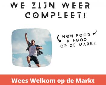 Food & Non-Food marktondernemers zien u graag op de Markt!